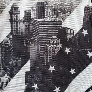 Hybrid & company Shirts - Hybrid Tees Mesh Solid City Skyline Stars Tee